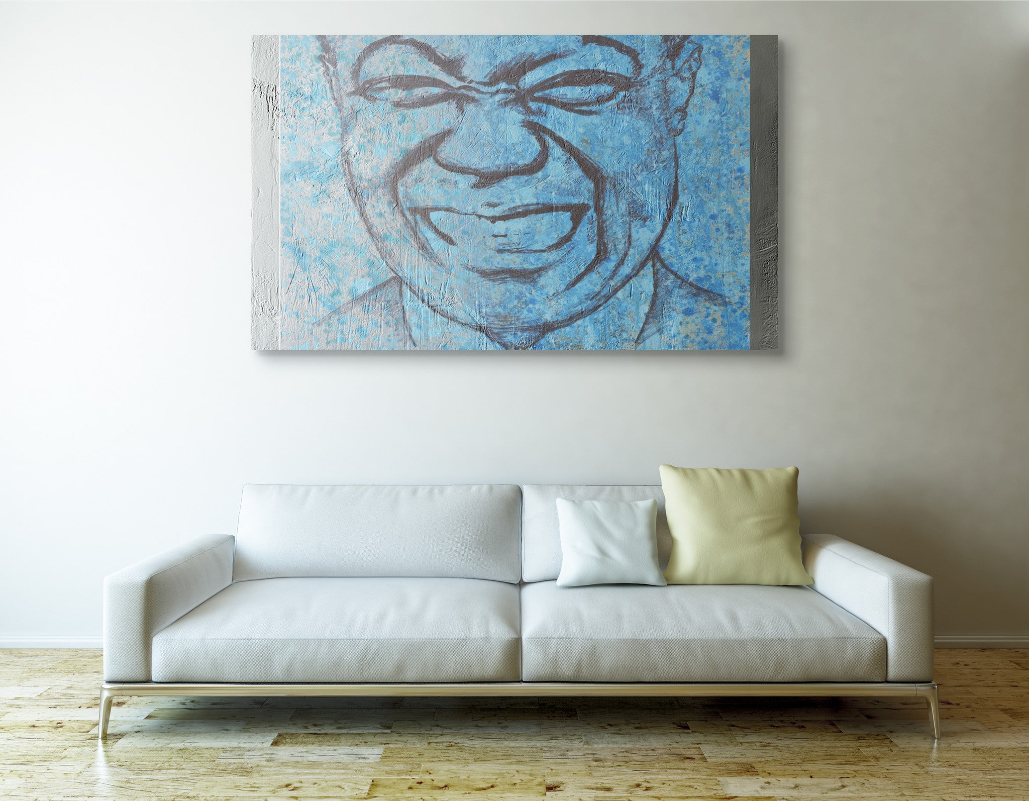 "Busciglio Art ""Louis Armstrong"" painting ""When you're Smiling"""