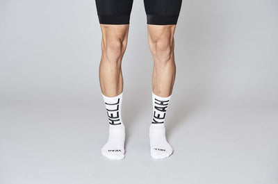 Cycling Socks HELL YEAH White PROLEN®YARN
