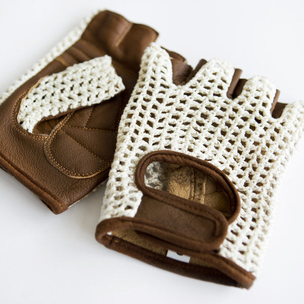 Crochet Cycling Gloves - Two Circles Cycling  - 3