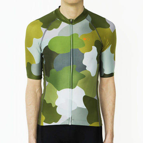 men's camo cycling jersey
