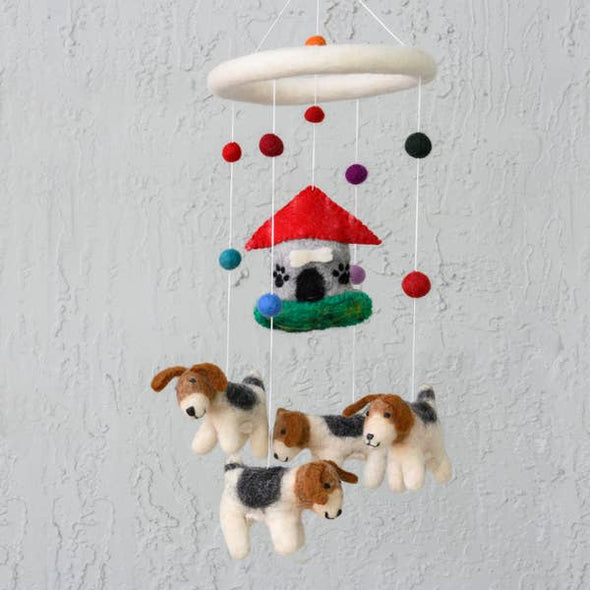 Felted Doghouse Mobile