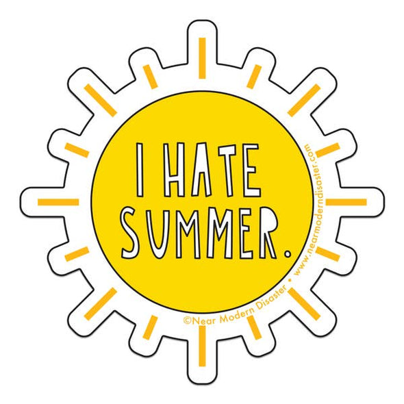 "I Hate Summer 3"" Vinyl Sticker"