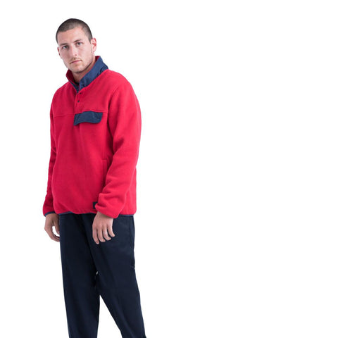 Herschel Supply Pullover Fleece- Red/Peacoat