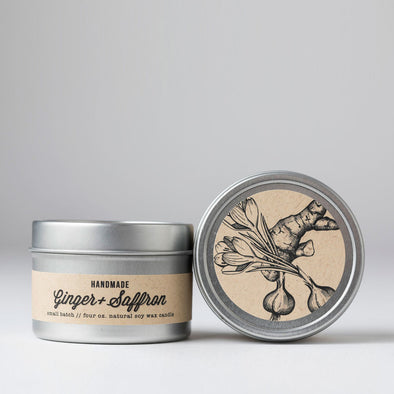 Ginger & Saffron Travel Tin Candle
