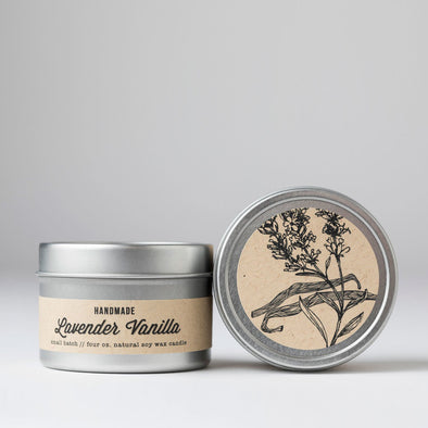 Lavender Vanilla Travel Tin Candle