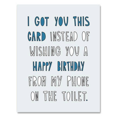 Toilet Birthday Greeting Card
