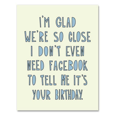 Facebook Birthday Greeting Card