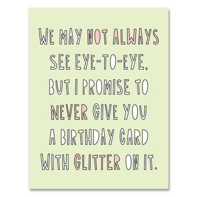 Never Glitter Greeting Card