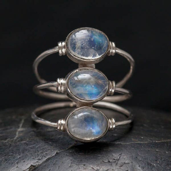 Sterling Silver & Moonstone Stacked Ring