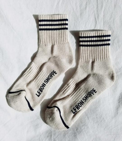 Le Bon Girlfriend Socks- Oatmeal