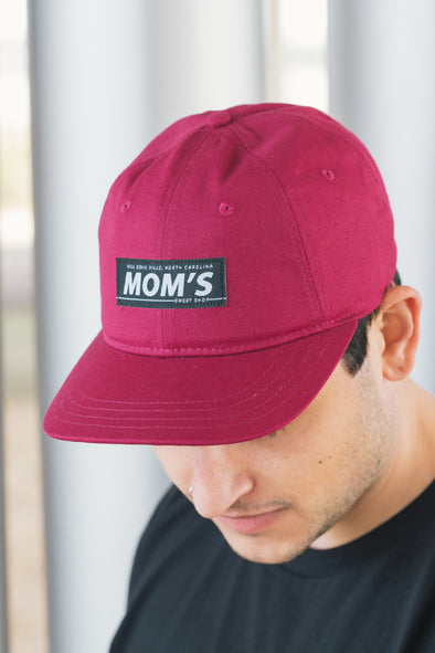 Mom's Bar Logo Eco-Cotton 6 Panel Hat- Boysenberry