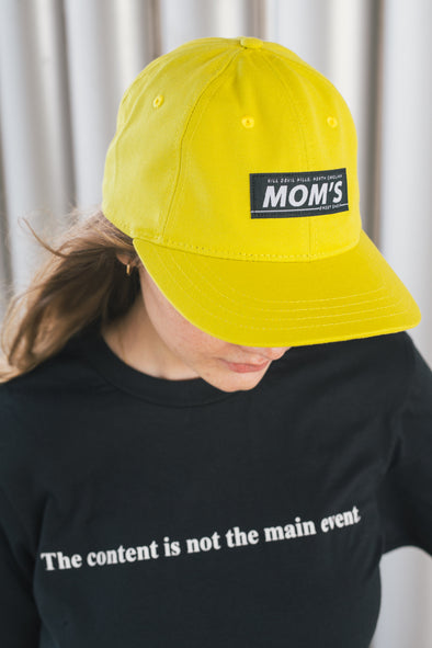 Mom's Bar Logo Eco-Cotton 6 Panel Hat- Key Lime