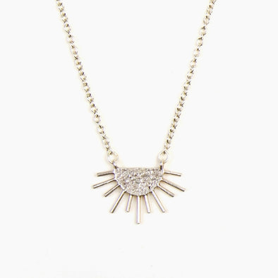Sun Ray Necklace- Silver