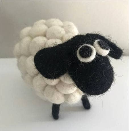 Felted Sheep- White