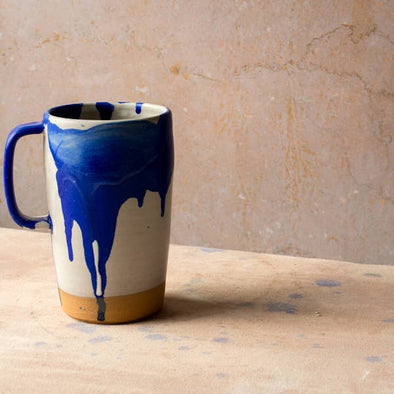 Settle Ceramics Latte Mug- Cobalt Splash