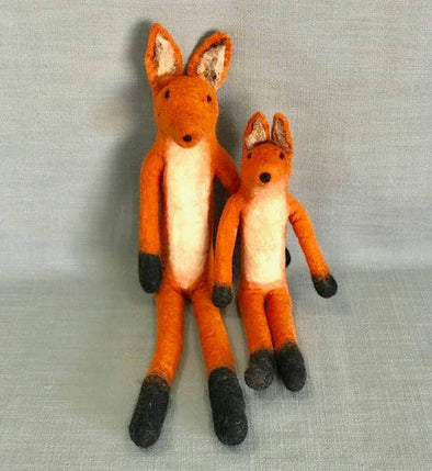 Large Felted Fox