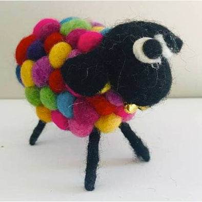 Felted Sheep- Colorful