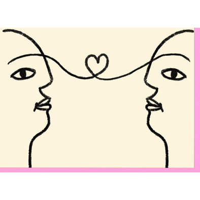 Lovers Look Greeting Card