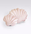 Shell Pillow- Large Cotton Velvet- Pale Coral
