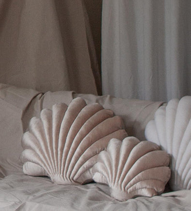 Shell Pillow- Small Luxe Velvet- Champagne