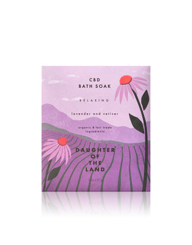 Daughter of the Land C B D Lavender & Vetiver Bath Soak