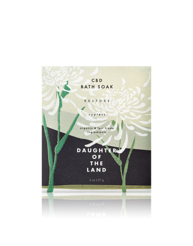 Daughter of the Land C B D Cypress Bath Soak
