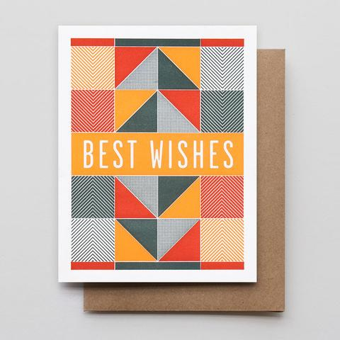 Best Wishes Letterpress Greeting Card