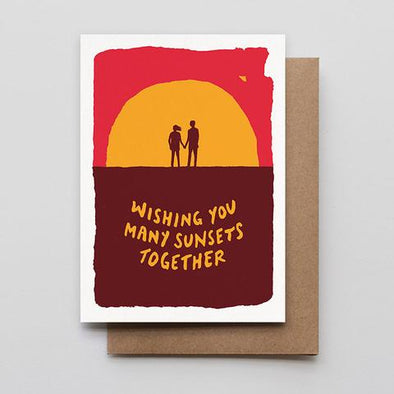Sunset Love Letterpress Greeting Card