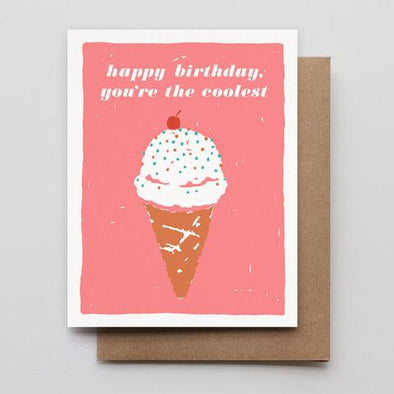You're The Coolest-Birthday Letterpress Greeting Card