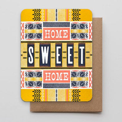Home Sweet Home Letterpress Greeting Card