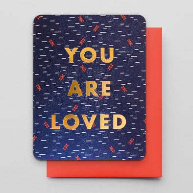 You Are Loved Letterpress Greeting Card