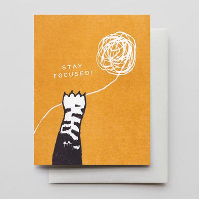 Stay Focused Letterpress Card