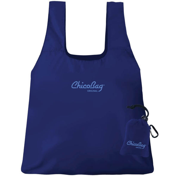 The Original Reusable Packable Tote- Mazarine Blue