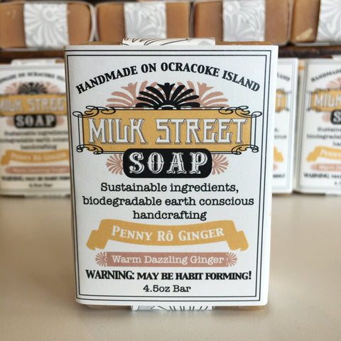 Milk Street Soap Co- Penny Ro Ginger, Goat Milk