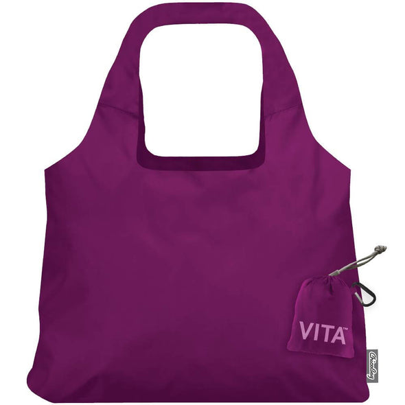 Vita Reusable Packable Tote- Boysenberry
