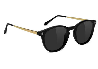 Glassy Aria Premium Polarized Sunglasses- Black/Gold