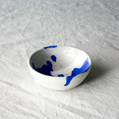 "Settle Ceramics 4"" Bowl- Cobalt Splash"