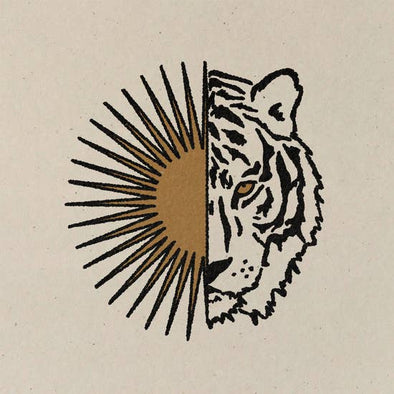 ColorbloKC Art Print- Tiger Sun