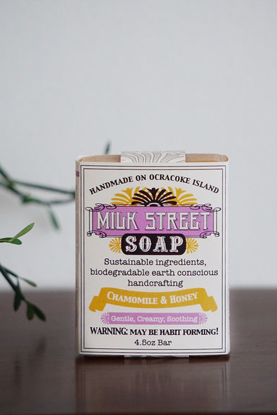 Milk Street Soap Co- Chamomile & Honey, Goats Milk