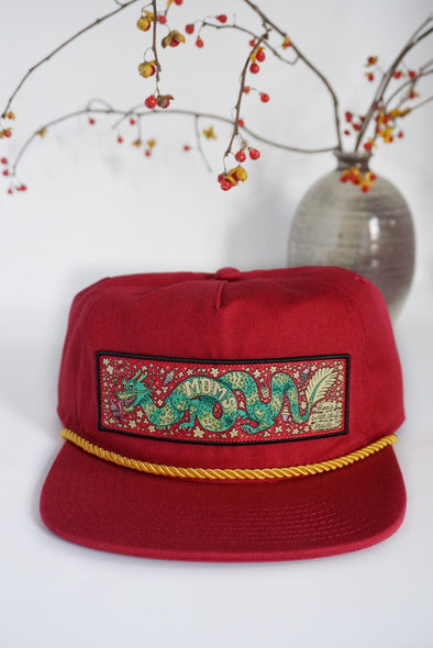 Mom's Sugar Dragon Trucker Snapback- Scarlet