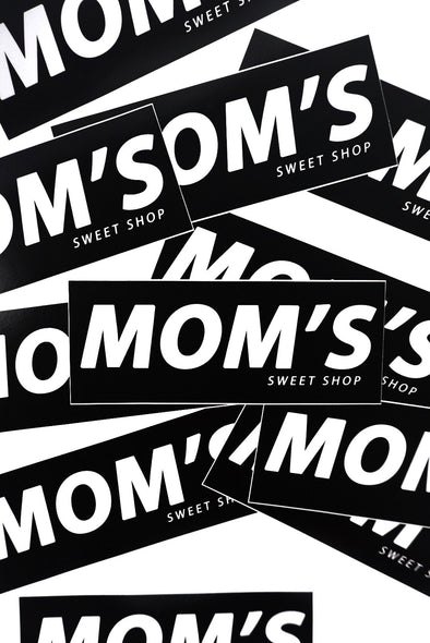 Mom's Bar Logo Sticker- Black