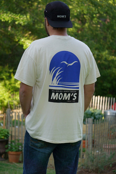 Mom's Coastal Preserve Tee- Natural- Blue/Black