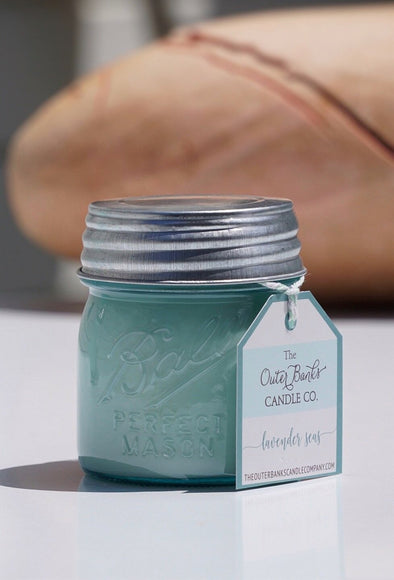 Aqua Ball Jar Candle 8oz- Lavender Seas