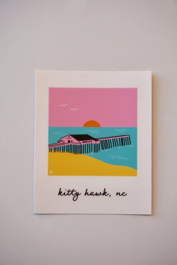 Kitty Hawk- Outer Banks Illustration Sticker