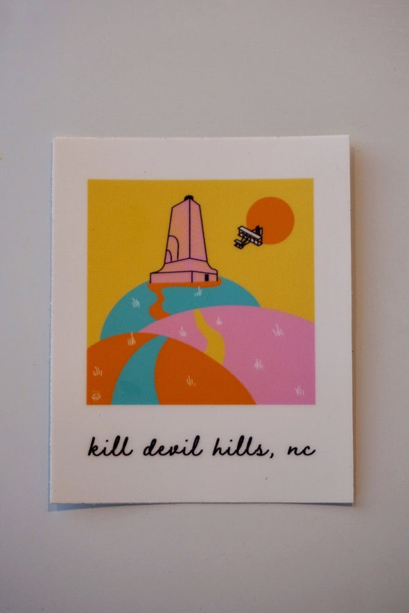 Kill Devil Hills- Outer Banks Illustration Sticker