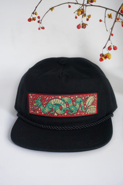 Mom's Sugar Dragon Trucker Snapback- Black