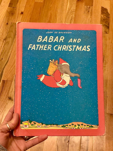 Vintage 1968 Babar & Father Christmas Children's Book