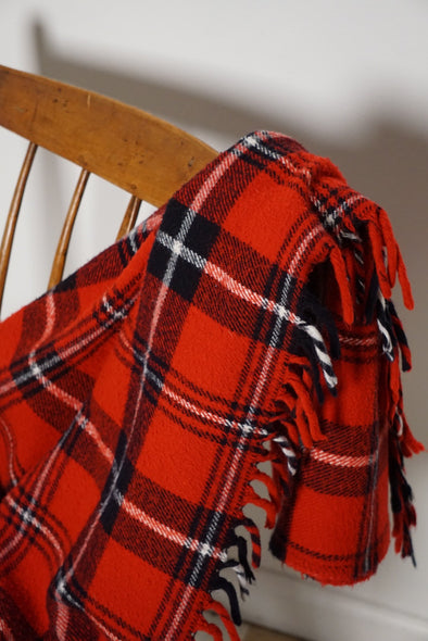 Vintage Faribo Plaid Blanket