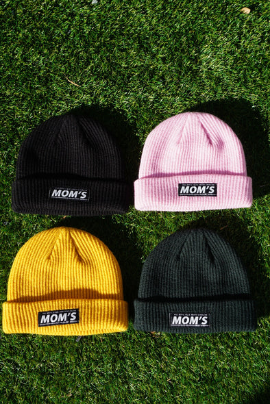 Mom's Bar Logo Beanie- Black