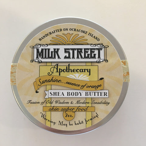 Milk Street Shea Body Butter- Sunshine